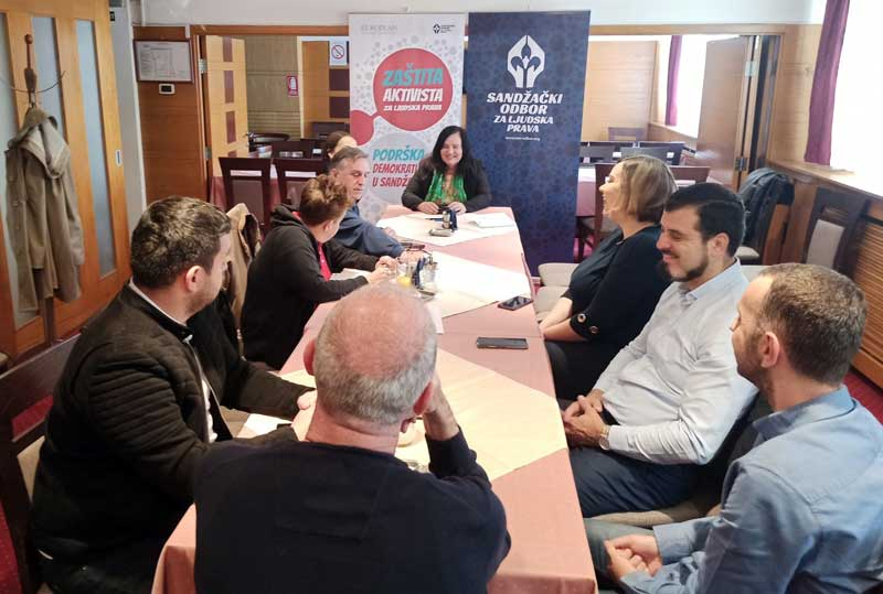 Inicijativa za osnivanje mreže za zaštitu aktivista u Sandžaku